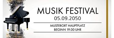 Werbebanner Musik Melody Braun 400x140
