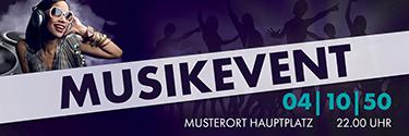 Werbebanner Musik People Violett