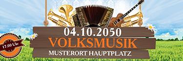 Werbebanner Musikfest Instrumente Orange