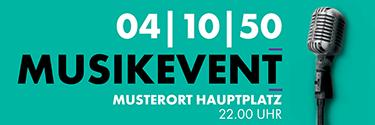 Musikfest Mikrofon Tuerkis