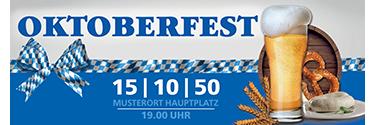 Werbebanner Oktoberfest Craft Beer 140x400