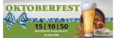 Werbebanner Oktoberfest Craft Beer Grün 140x400