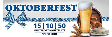 Werbebanner Oktoberfest Craft Beer Weiss 140x400