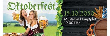 Werbebanner Oktoberfest Grün 140x400