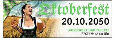 Werbebanner Oktoberfest Noten Grün 400x140