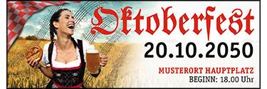 Werbebanner Oktoberfest Noten Rot 400x140