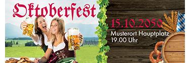 Werbebanner Oktoberfest Rot 140x400