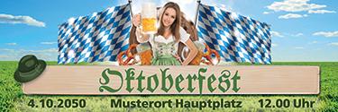 Werbebanner Oktoberfest Tracht Gruen