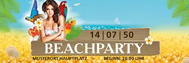 Werbebanner Sommerfest Meeresbrise Braun