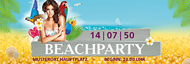 Werbebanner Sommerfest Meeresbrise Violett