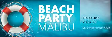 Werbebanner Sommerfest Schwimmreifen Rot