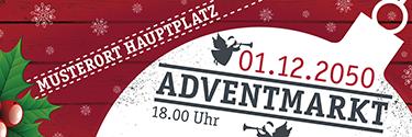 Werbebanner Weihnachten Zweig Rot