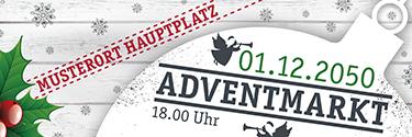 Werbebanner Weihnachten Zweig Weiss