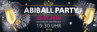 Werbebanner Abiball Feuerwerk Schwarz