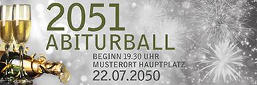 Werbebanner Abiball Goldrausch Silber