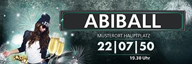 Werbebanner Abiball Milady Blau