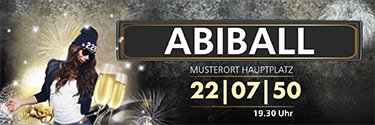 Werbebanner Abiball Milady Orange