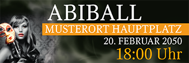 Werbebanner Abiball Miss Carneval Orange