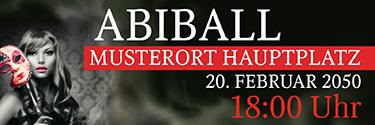 Werbebanner Abiball Miss Carneval Rot