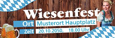Werbebanner Wiesenfest German Blau
