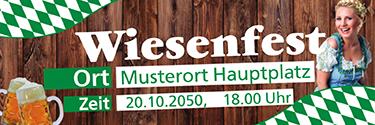Werbebanner Wiesenfest German Gruen