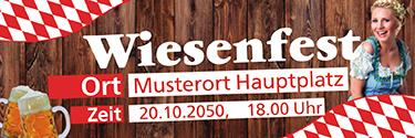Werbebanner Wiesenfest German Rot