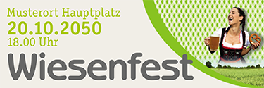 Werbebanner Wiesenfest Kornfeld Gruen